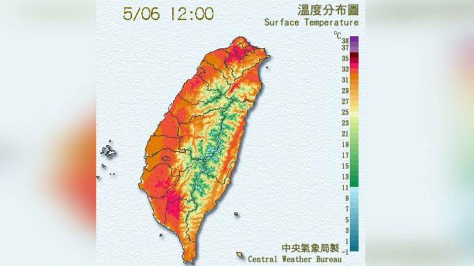 全台「紅通通」!台北高溫36.1℃  破今年最高溫