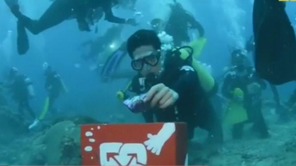 海底能寄明信片! 綠島「海底郵筒」也做環保收垃圾