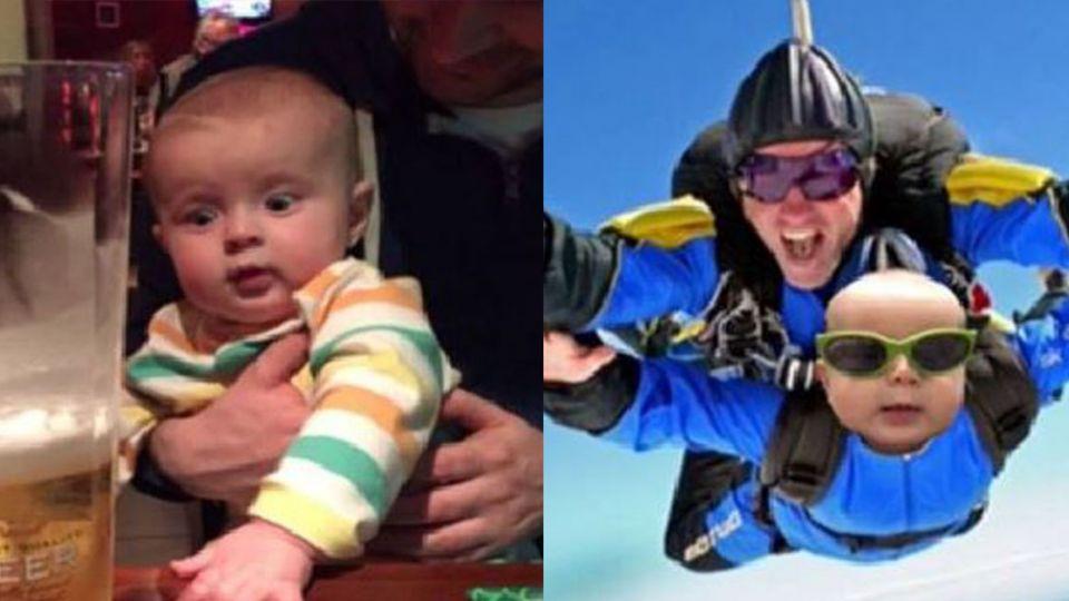 老公帶6月大兒子跑趴玩跳傘 她氣到嗆「回家揍人!」