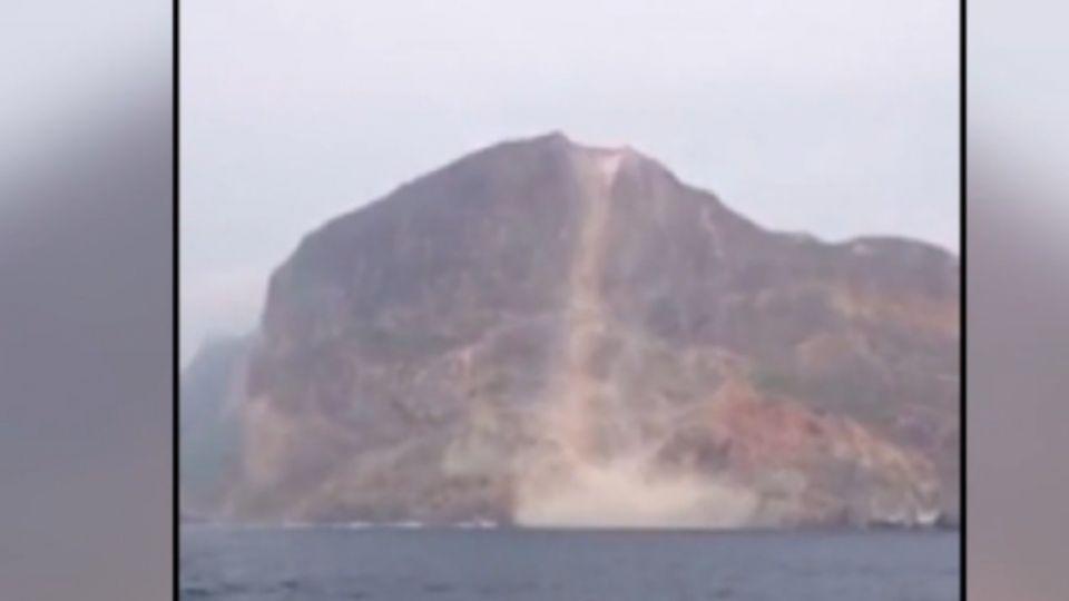 驚悚! 宜蘭外海5.8地震 龜山島山壁崩落