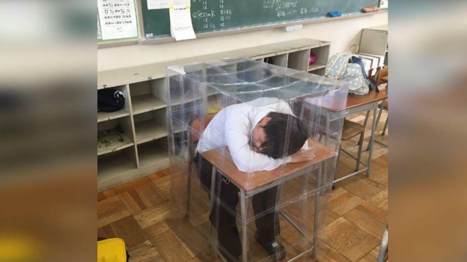 不想老師當起床鬧鐘!他自製「結界」防打擾