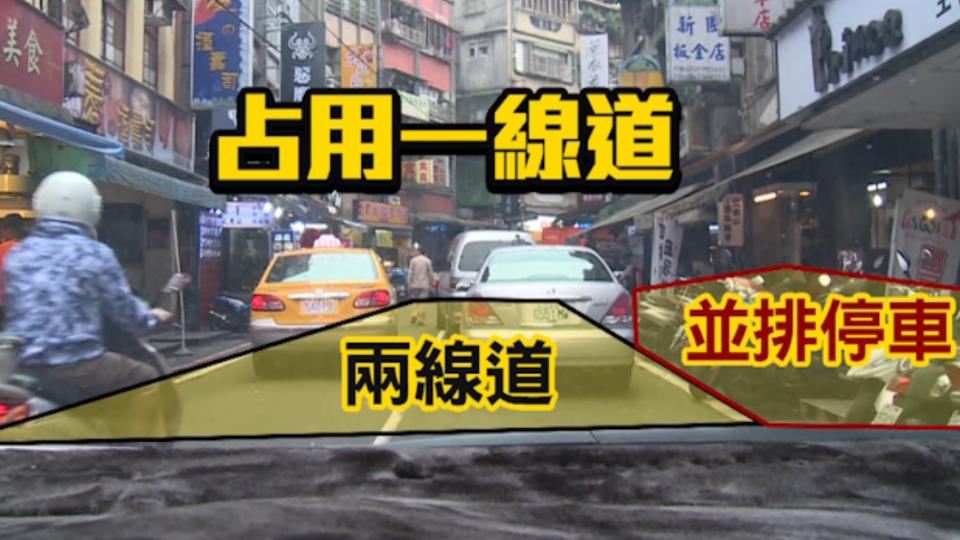 廟口鄰街違規並排多 遊覽車過不去「塞爆」