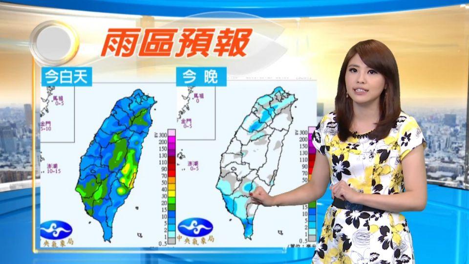 【2016/05/22】外出帶傘 西半部局部大雨 高溫仍悶熱
