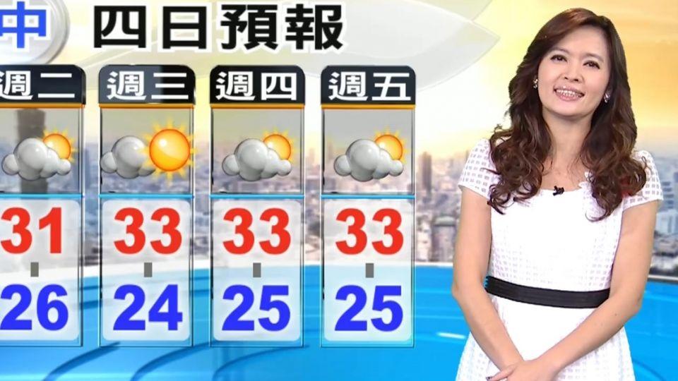 【2016/05/22】今鋒面漸離 陽光露臉悶熱 午後局部雨大
