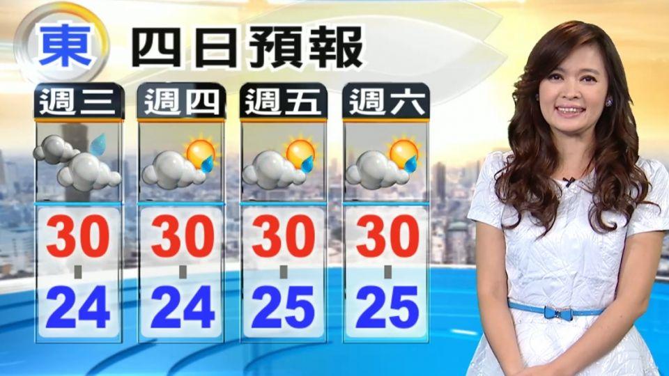 【2016/05/25】今鋒面遠離 天氣轉好 午後雨偏山區