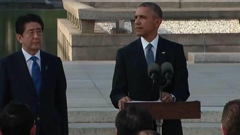 向「無核武」跨出一大步!歐巴馬廣島擁抱「原爆」倖存者