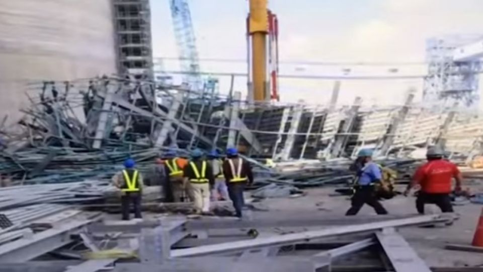 大林電廠鷹架塌 工人50米高墜地 2死5傷