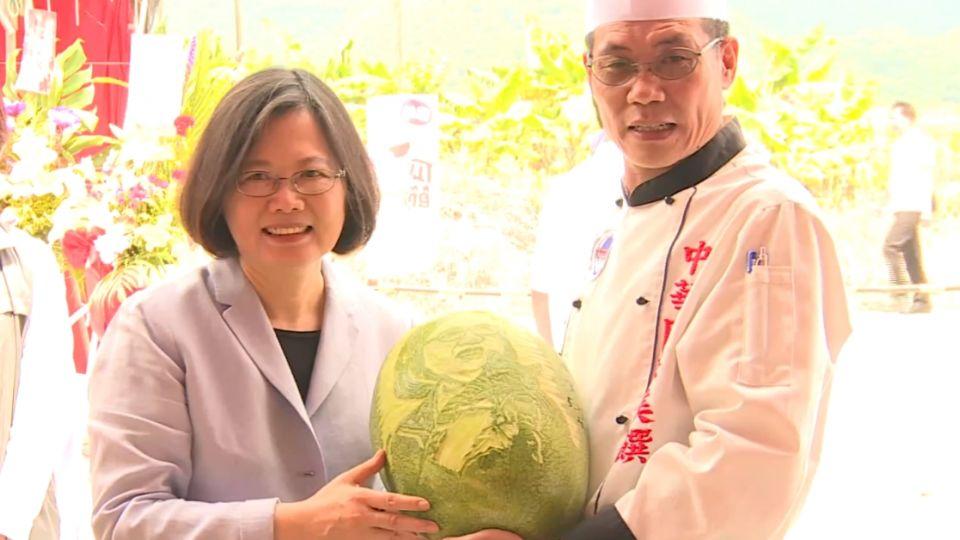鳳林西瓜NO.1 蔡英文稱讚是「總統瓜」