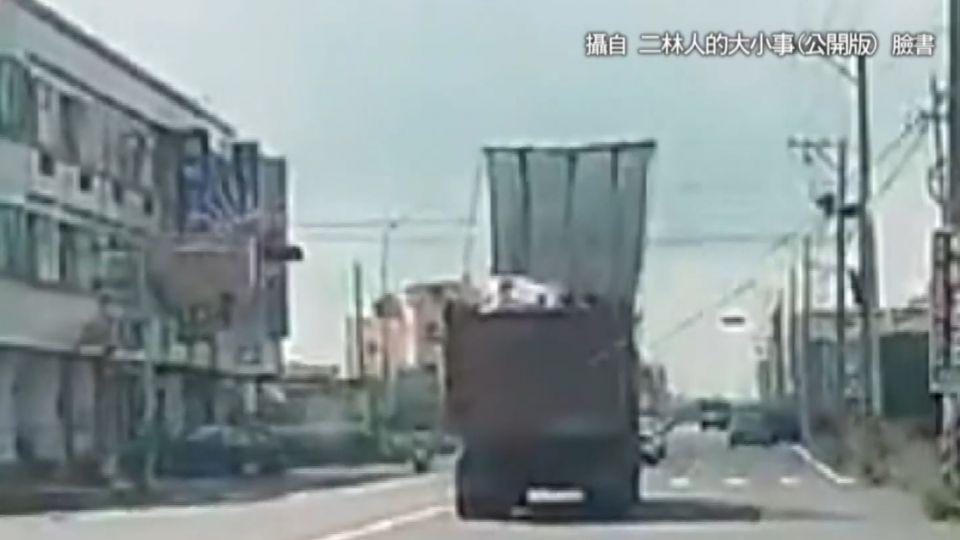 疑防塵網未收下 貨櫃車一路扯斷5條電線