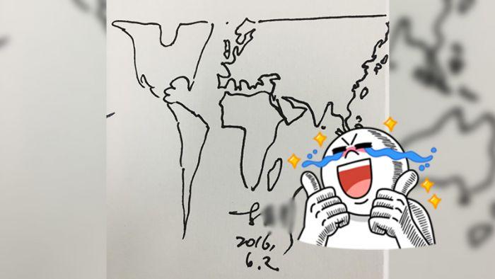 超狂!地理老師簽名有特色 1分鐘帶你環遊世界