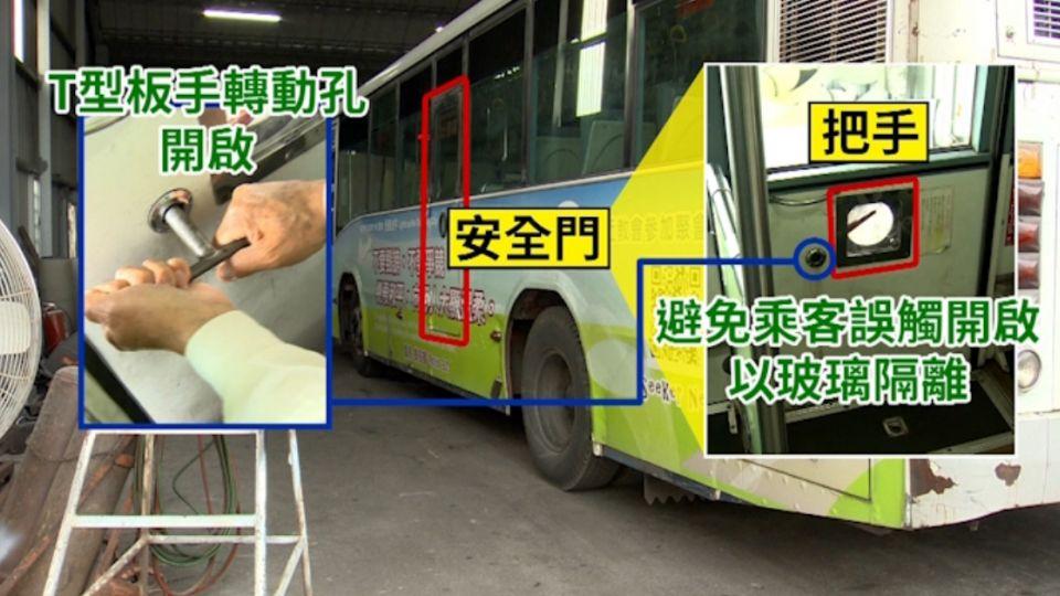 踹、碰、T型把手 駕駛發車前必檢安全門