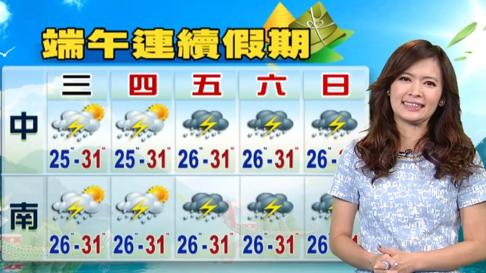 【2016/06/07】今鋒面離 天氣較穩 注意午後山區雷陣雨