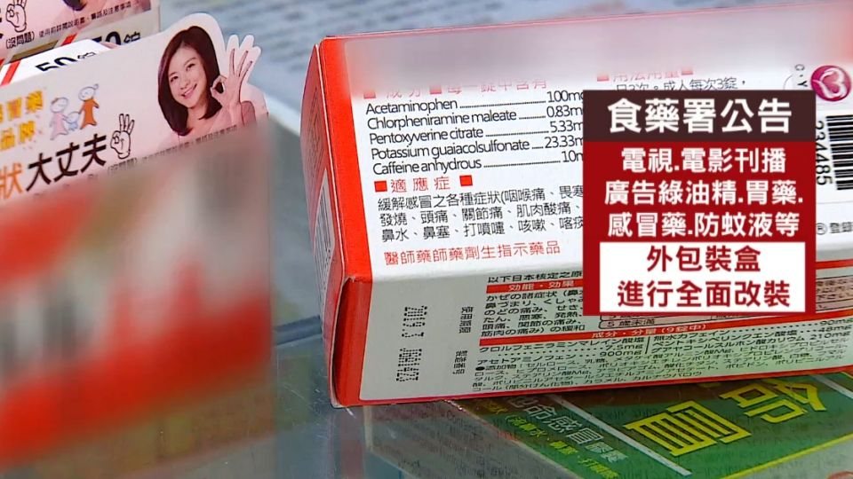 成藥外盒必標6大資訊 業者怨:字多放不下