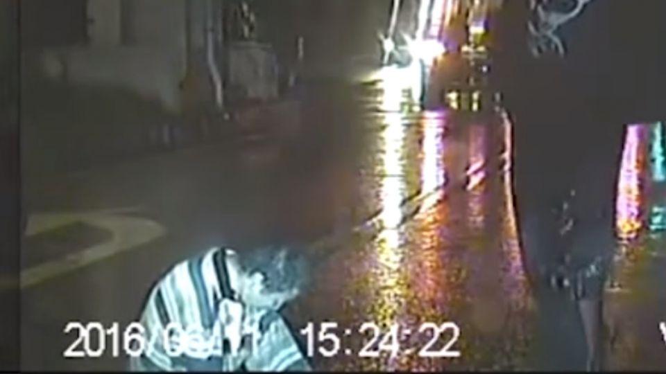 酒醉男路倒馬路中央 駕駛緊急煞車險撞
