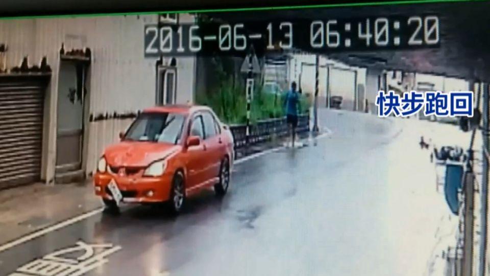 無照駕駛、一時緊張 撞婦男下車「看一眼」逃