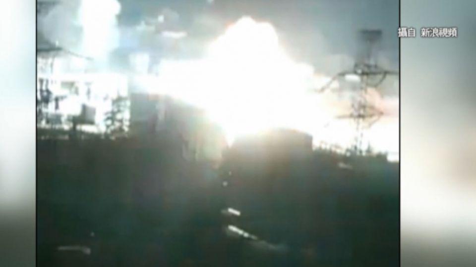 西安變電場爆炸 火勢竄6層樓高