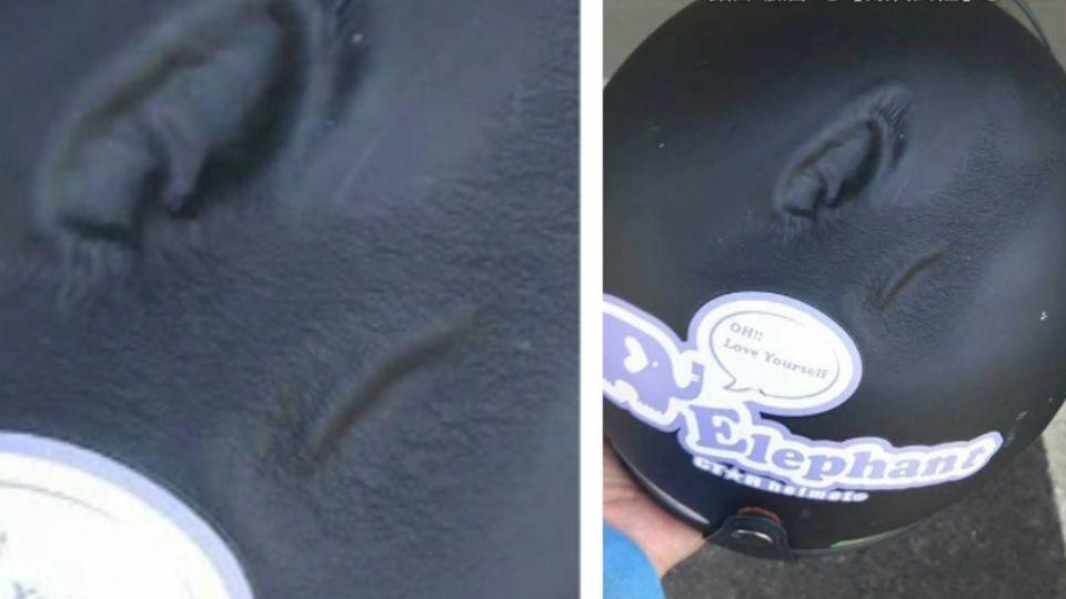 好毒的太陽? 網傳「高溫熔化安全帽」照