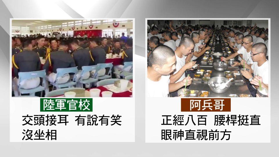 輕鬆過頭? 陸軍官校生用餐吵翻 挨批:像菜市場