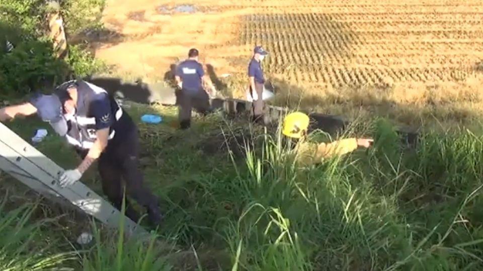 國1大林段2車追撞 1男彈車外摔路肩慘死
