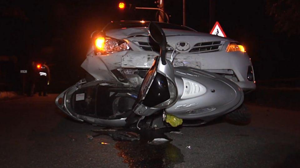 「酒駕又闖紅燈」返家遭撞 機車卡車底留20m車痕