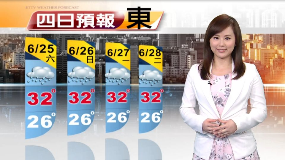 【2016/06/25】墨鏡、雨傘都要帶 上午炎熱 下午雷陣雨