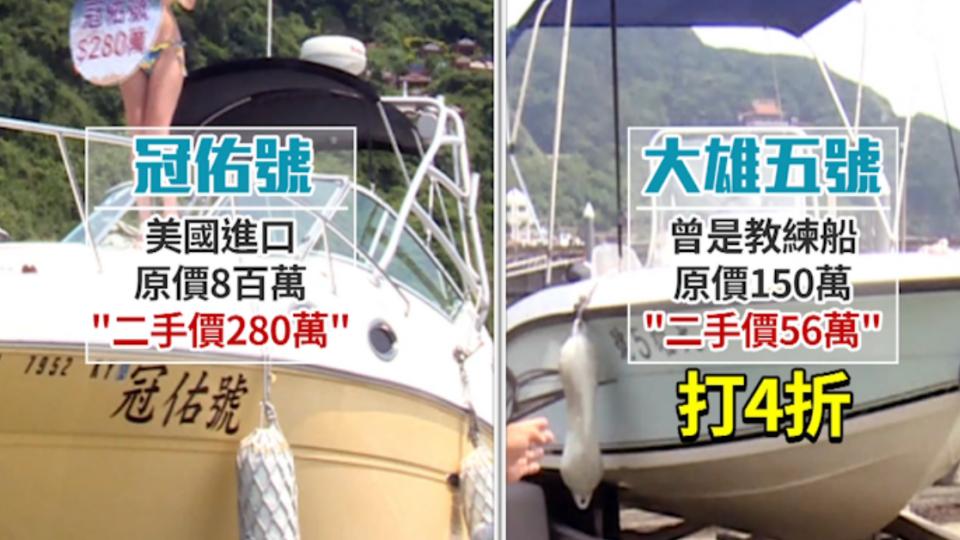 陸客減少遊艇閒置 「56萬」就買得到