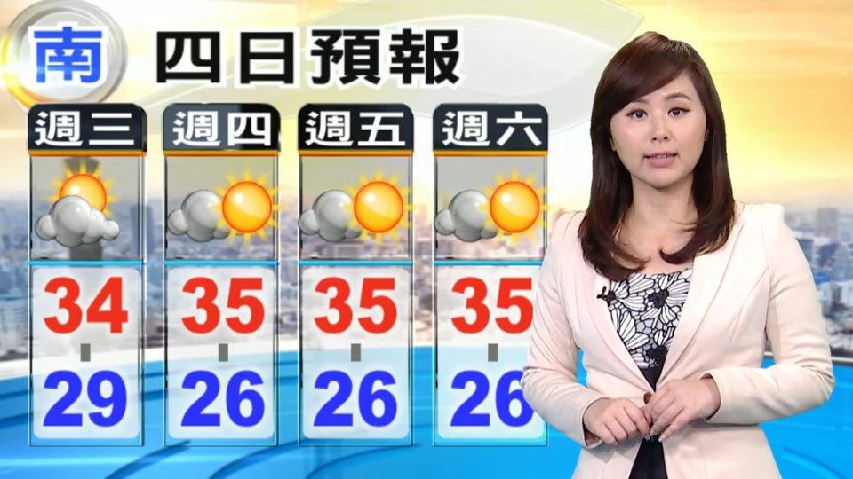 【2016/06/29】金高壓減弱 上午晴熱、午後小心強降雨