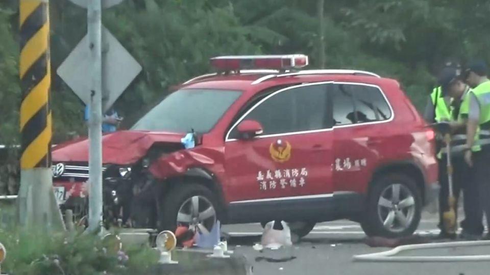 消防警備車撞轎車 4人輕傷送醫
