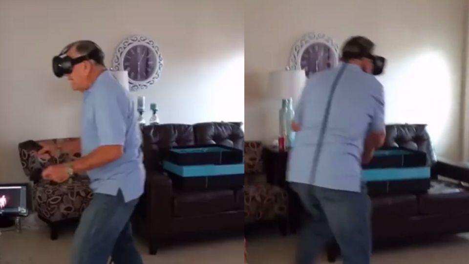 【影片】81歲阿公體驗VR太真實!射擊秒變拳擊賽