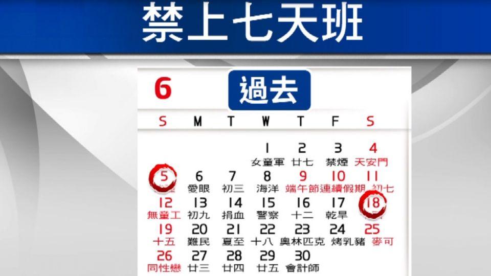 8月起禁連上7天! 旅遊、貨運、百貨業難配合