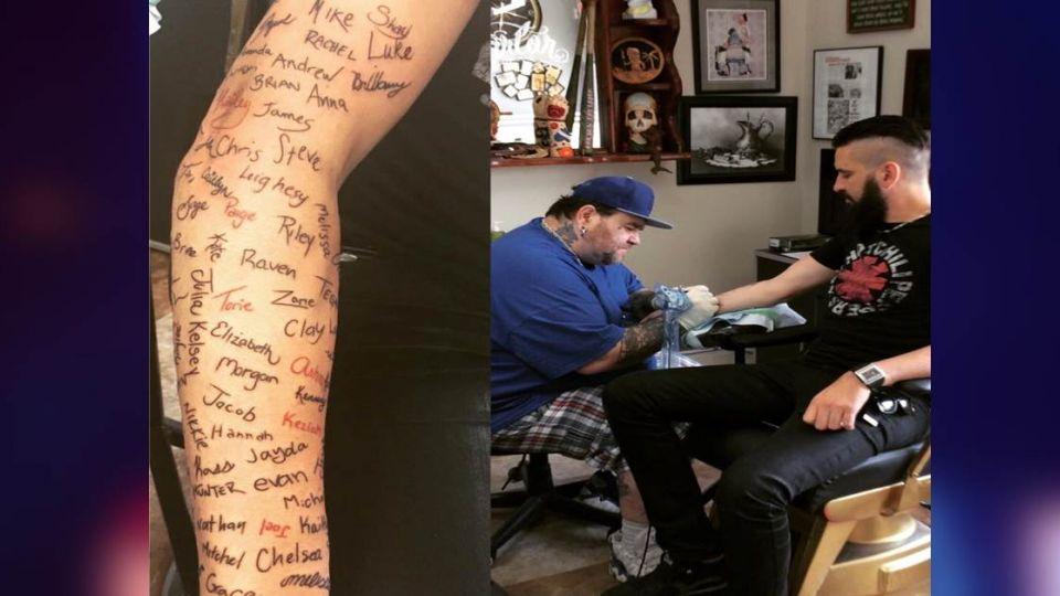 勸退自殺學生 他手臂紋上120個姓名