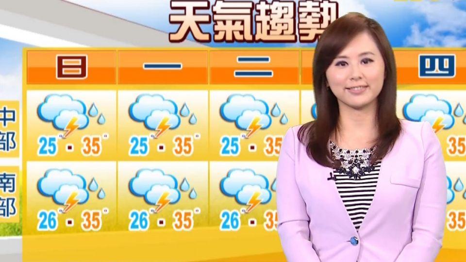 【2016/07/02】陽光普照 高溫33-36度 午後防大雷雨