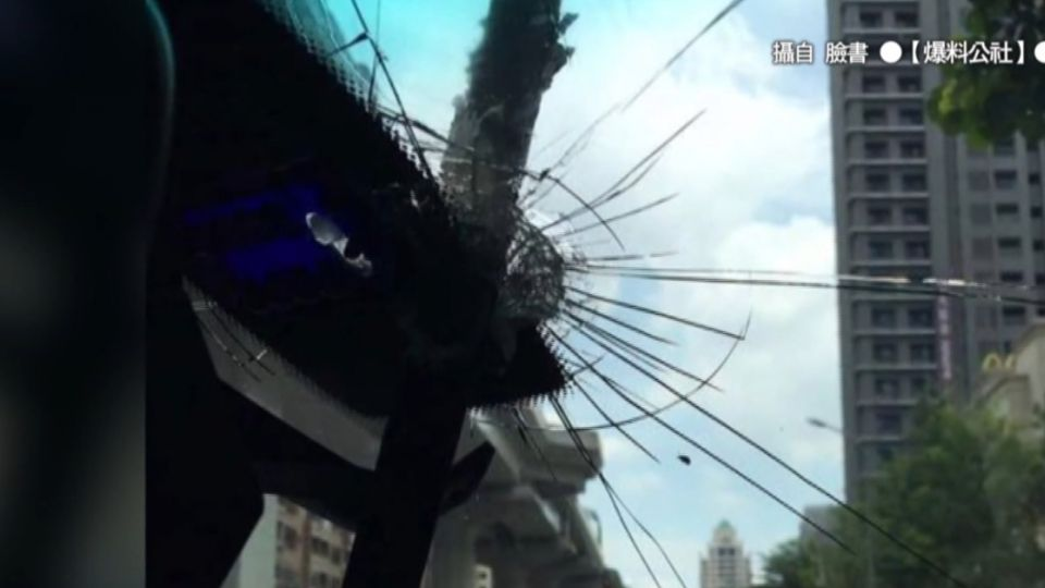 中捷又闖禍! 天外飛來膠條 刺穿車擋風玻璃