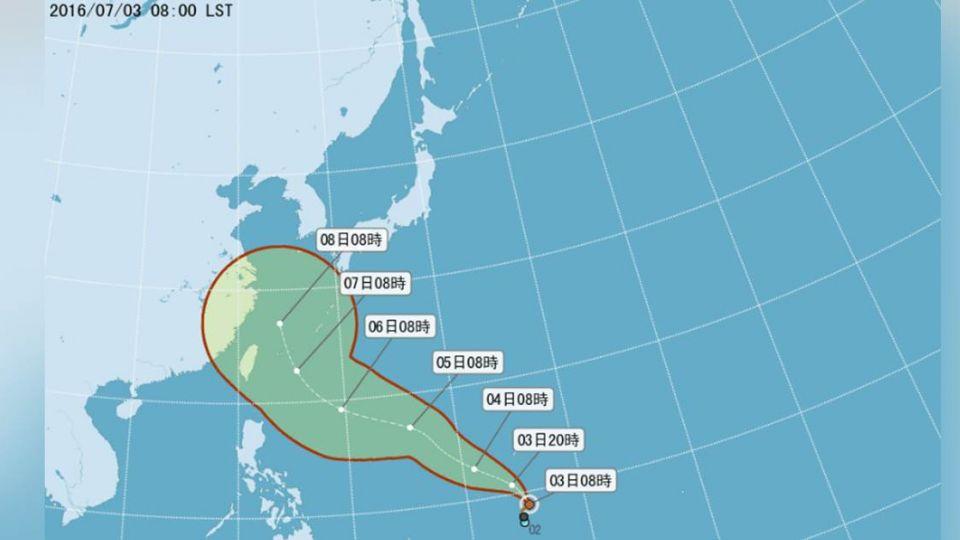 颱風尼伯特是否侵台?氣象局:視「北轉」時間而定