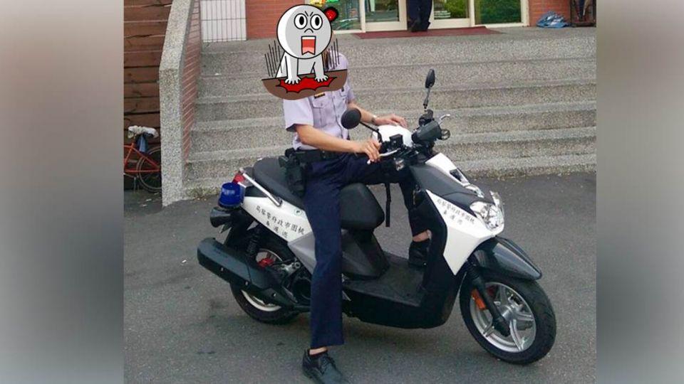 超帥長腿警騎「把妹神車」 網友:警察都不杯杯了