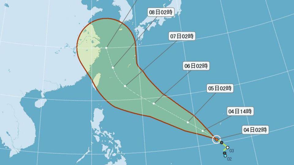 尼伯特恐轉中颱 氣象局:最快週三深夜感受風雨