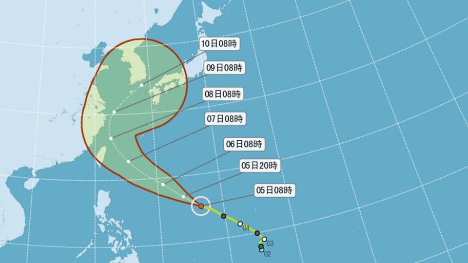 【影片】小鋼砲「尼伯特」轉中颱  氣象局:強度將持續增強