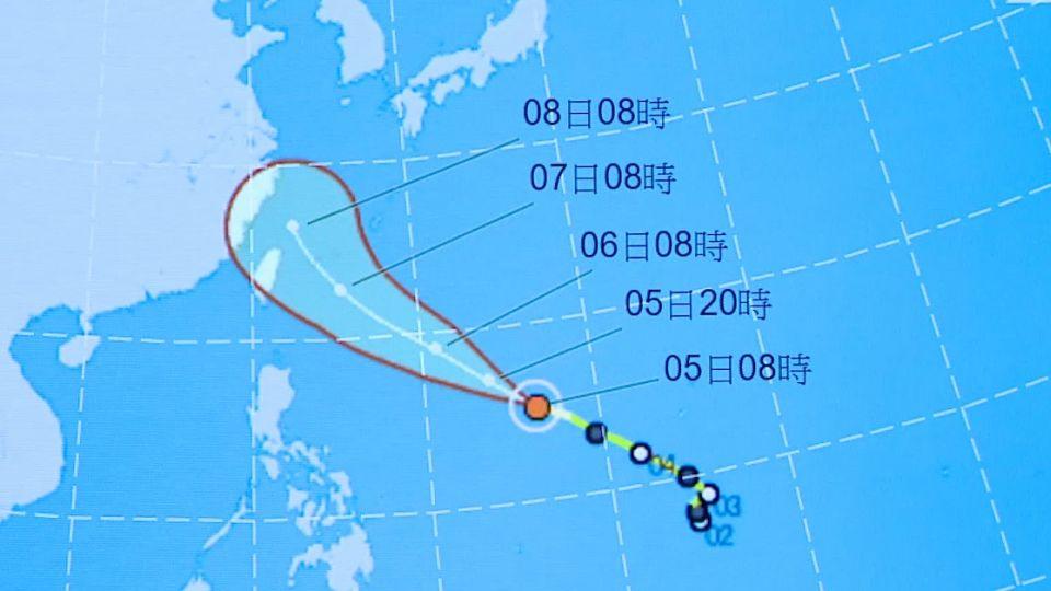 尼伯特轉中颱還會增強! 最快周三發海警