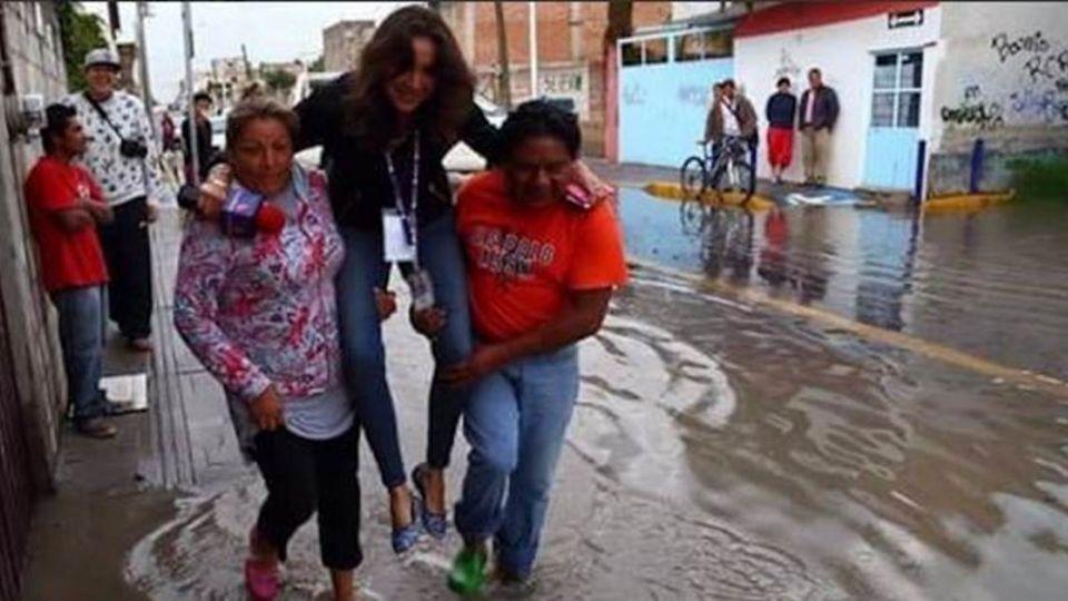 採訪第一線 反被災民救?這位記者很「公主」