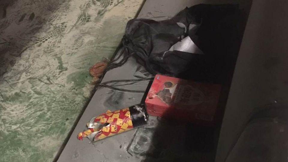 疑似爆裂物曝光!警方鎖定一40歲男子