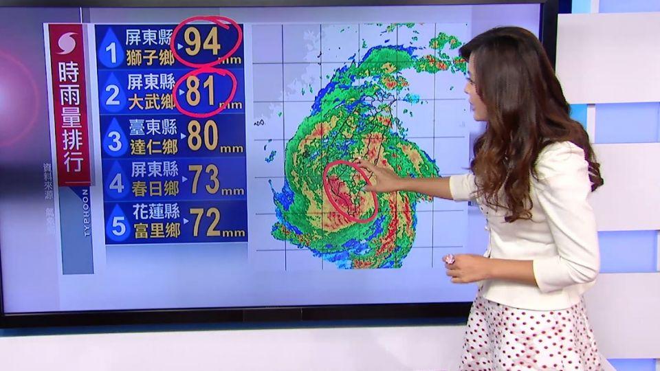 【2016/07/08】受地形破壞 尼伯特08:30轉中度颱風