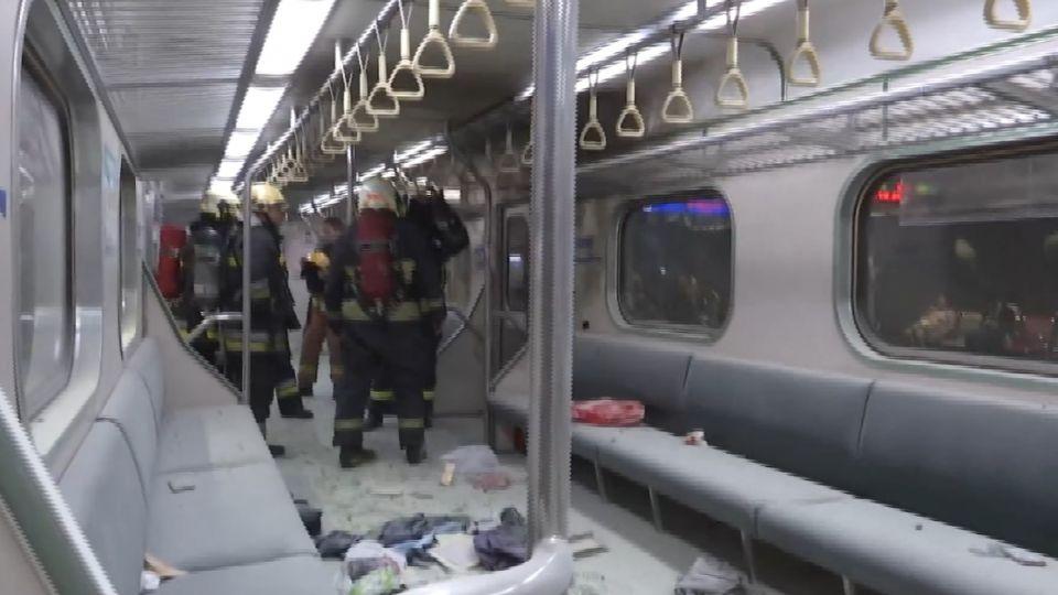松山車站區間車車廂爆炸 25名乘客受傷