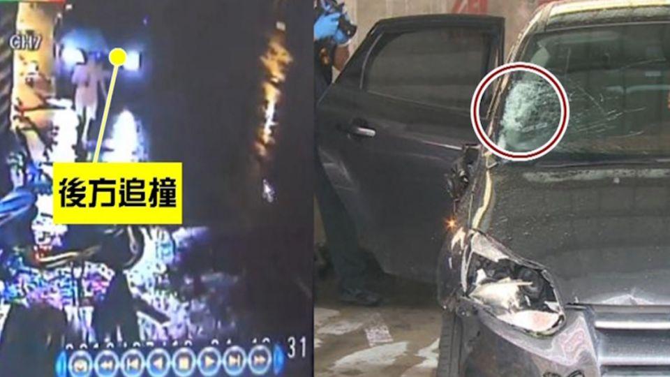酒駕肇逃男 肇事車旁來回踱步滿臉懊悔