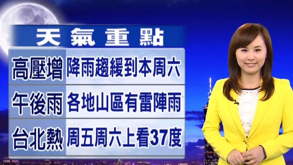 明恢復典型夏季氣候 上午悶熱午後雨