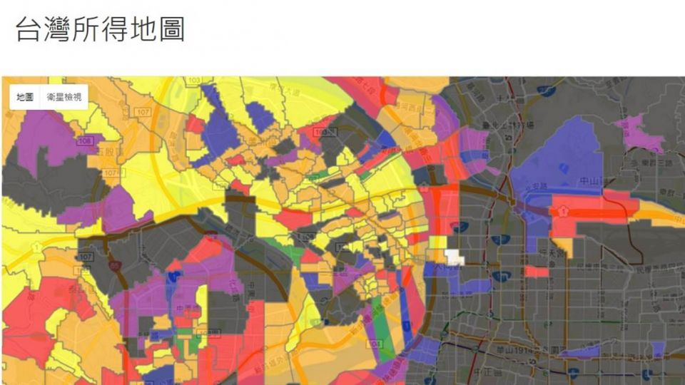 你的鄰居賺多少? 《台灣所得地圖》讓人「薪」酸