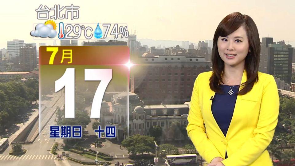 太陽依舊毒辣! 各地高溫33到36度