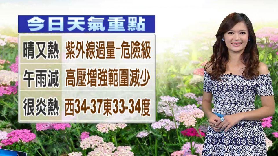 【2016/07/20】今高壓增強 午後大雨時間短 範圍縮小