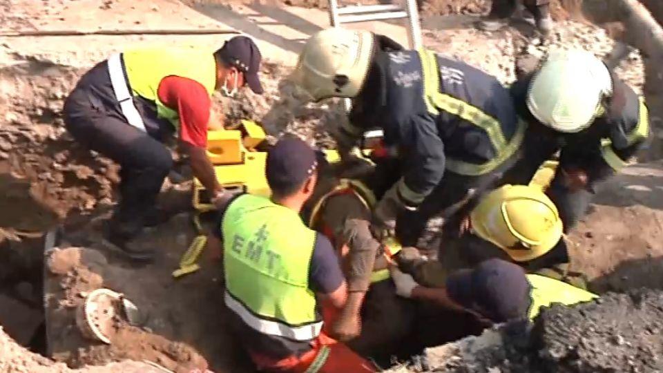 水庫工安意外 包商墜坑遭活埋命危