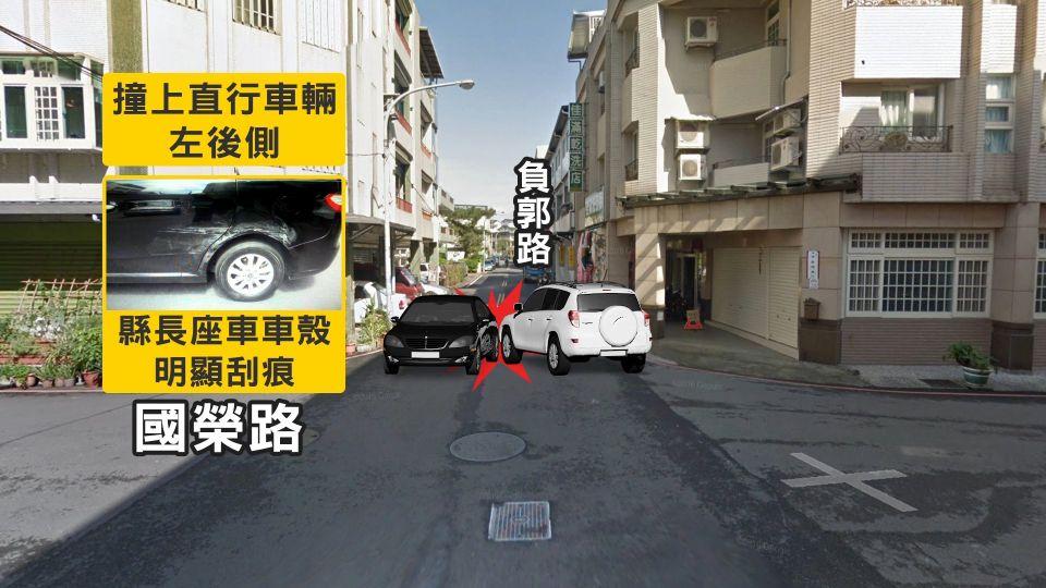 路口衝出車輛! 宜縣長搭座車跑行程 遭酒駕男撞