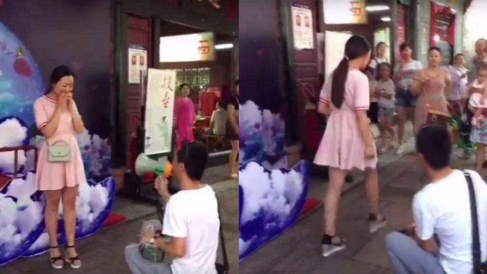 【影片】男子求婚用「房產證」擔保!女友翻臉走人罵:你在侮辱我